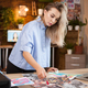 Caucasian female designer woman in creative office - PhotoDune Item for Sale