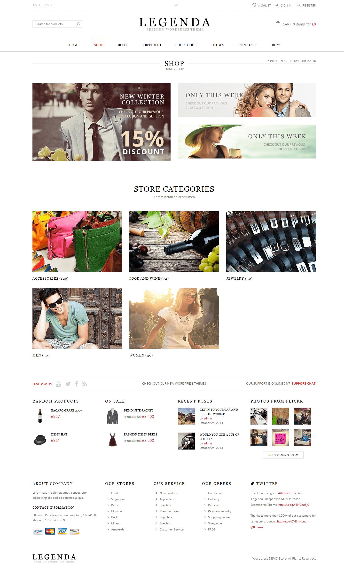 Legenda - Responsive Multi-Purpose WordPress Theme by 8theme   ThemeForest