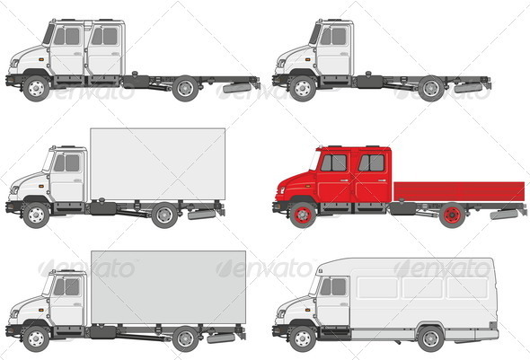 Truck Set - Man-made Objects Objects