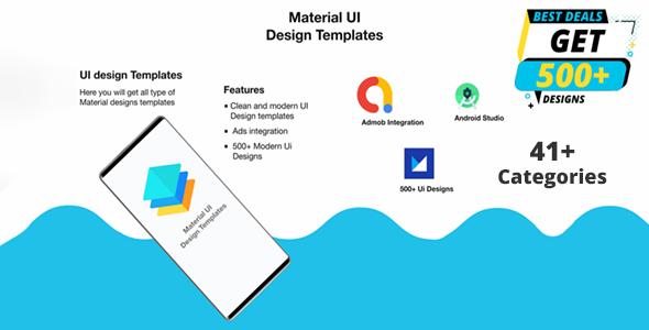 Material Design UI Templates   Material Design UI Components App