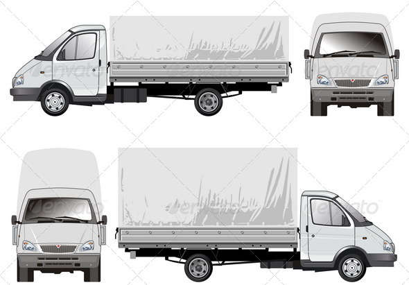 Delivery Cargo Truck - Man-made Objects Objects