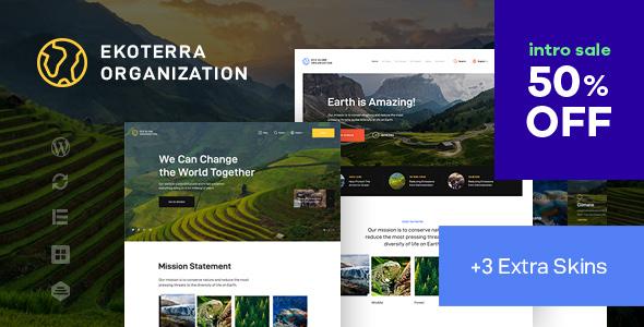 Download Ekoterra – NonProfit & Ecology WordPress Theme Free Nulled