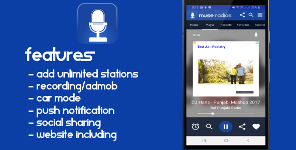 Radio Android App with website
