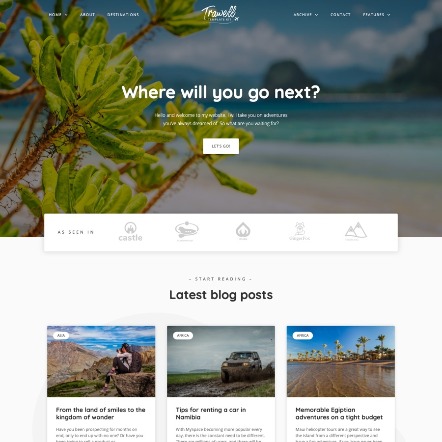 Trawell - Travel Blog Elementor Template Kit by meks   ThemeForest