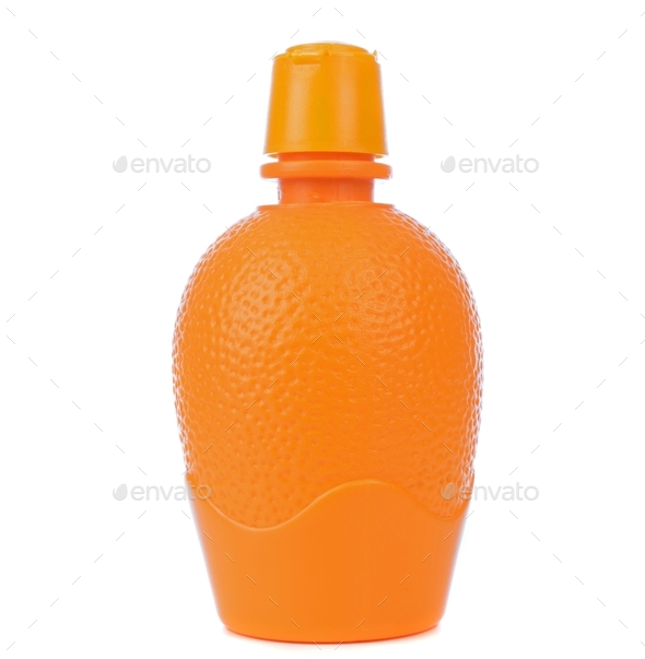 Orange Juice Concentrate in a Plastic Bottle - Stock Photo - Images