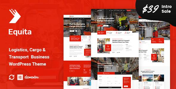 Equita – Logistics Cargo WordPress Theme