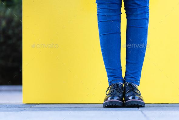 Close up of stylish female shoes. - Stock Photo - Images