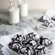 chocolate cookies. homemade chocolate crinkles cookies powdered sugar - PhotoDune Item for Sale