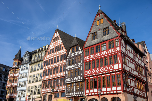 Traditional half-timbered houses - Stock Photo - Images