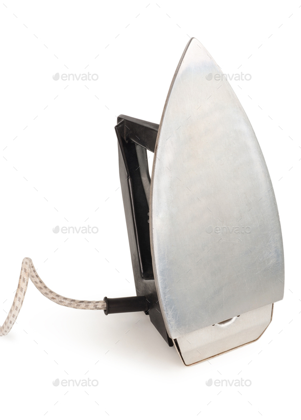 old electric iron - Stock Photo - Images