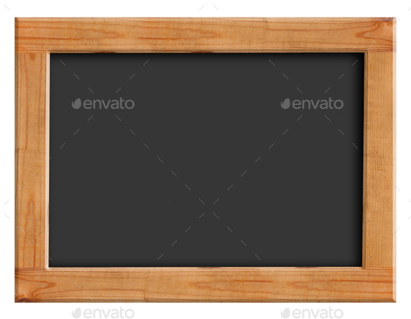Chalkboard with wooden frame - Stock Photo - Images