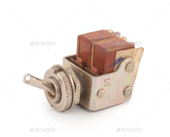 Old toggle switch - Stock Photo - Images