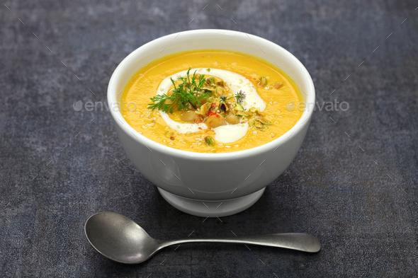 tahini soup - Stock Photo - Images