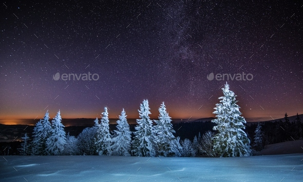 Magical view of the starry clear sky - Stock Photo - Images