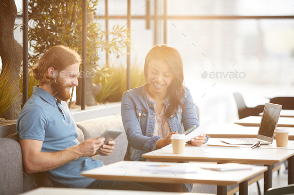 Business people planning work together - Stock Photo - Images