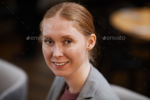 Young smiling businesswoman - Stock Photo - Images
