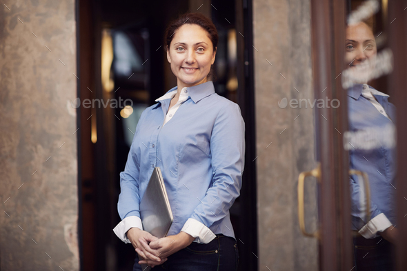 Confident mature businesswoman - Stock Photo - Images