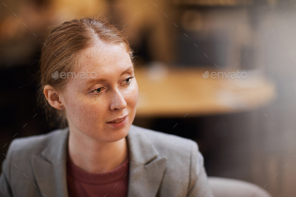 Young red haired woman - Stock Photo - Images