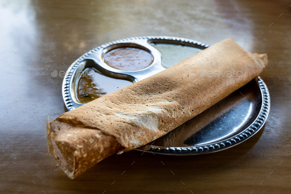 Thosai or tosai is popular indian food in Malaysia - Stock Photo - Images