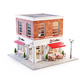 Unusual 3d illustration of a cozy cafe - PhotoDune Item for Sale