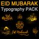 Eid Mubarak Typography Pack - VideoHive Item for Sale
