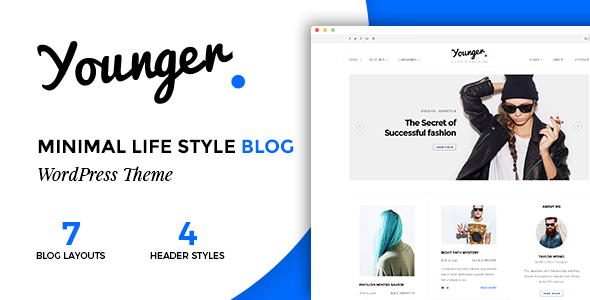 Younger Blogger - Personal Blog Theme