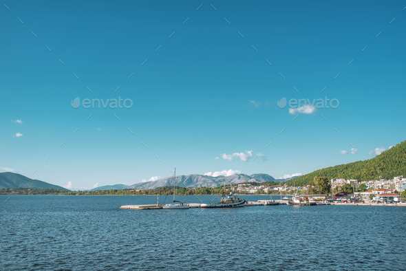 Yachts in Ionian sea - Stock Photo - Images
