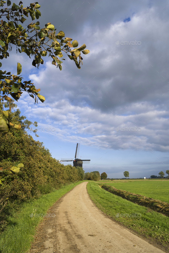 The Noordeveldse windmill - Stock Photo - Images