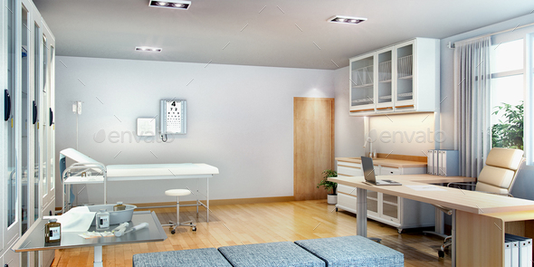 3d rendering first aid room near office - Stock Photo - Images