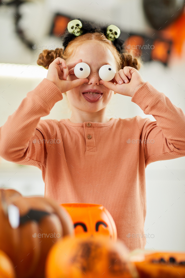 Girl with scary face - Stock Photo - Images