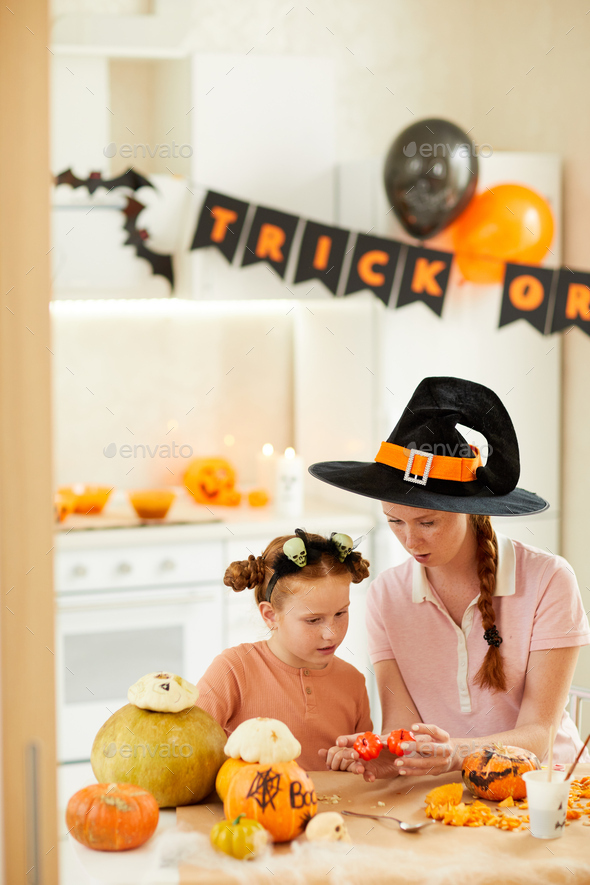 Making crafts for Halloween - Stock Photo - Images