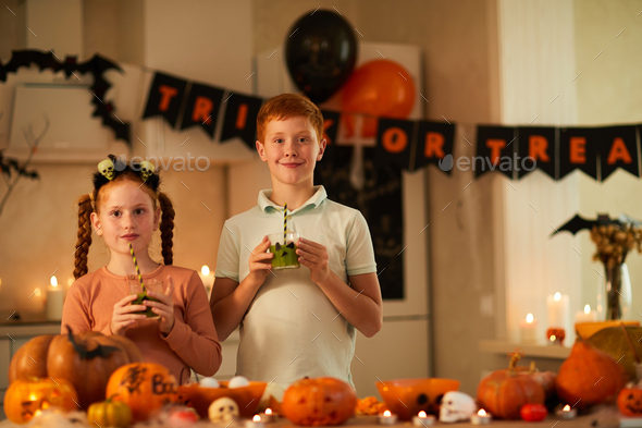 Friends at Halloween party - Stock Photo - Images