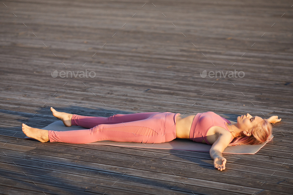 Woman resting after training - Stock Photo - Images