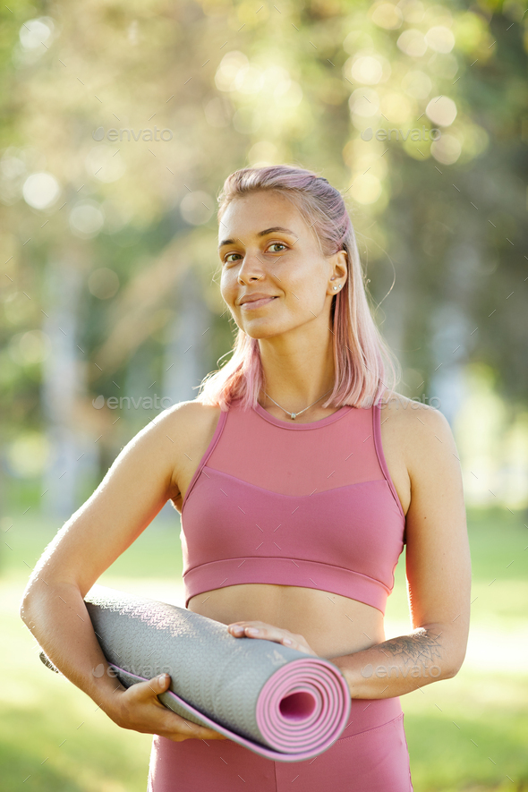 Doing fitness outdoors - Stock Photo - Images