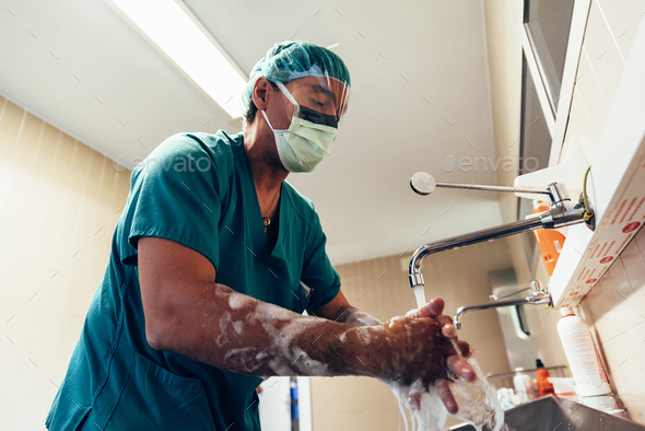 Doctor Washing Hands Before Operating. Hospital Concept. - Stock Photo - Images