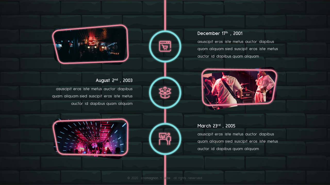Cromagnon - Creative Neon Powerpoint Template