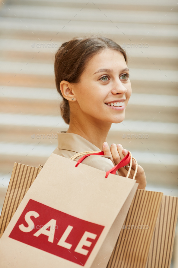 Happy customer in the shop - Stock Photo - Images