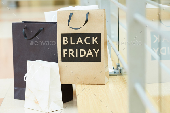 Purchases after black friday in the shop - Stock Photo - Images