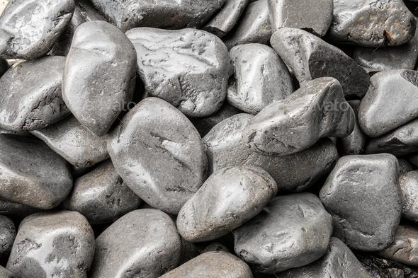 Gray rounded stone background - Stock Photo - Images