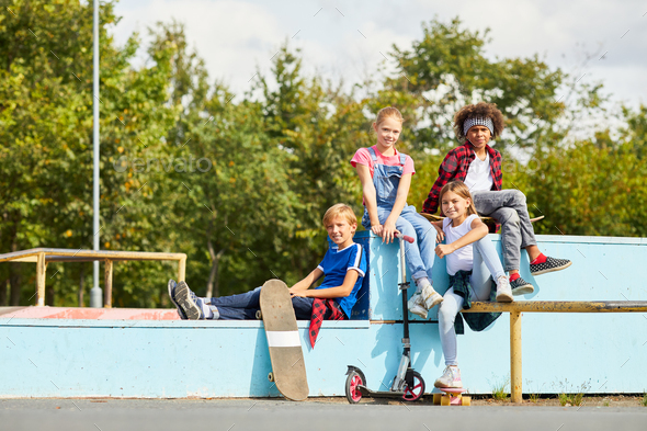 Children in the park - Stock Photo - Images