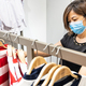 Asian woman shopping apparels in clothing boutique with protective face mask as new normal - PhotoDune Item for Sale