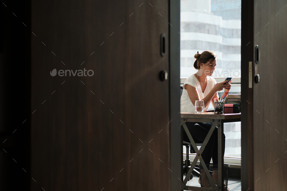 Business Woman Chatting On Phone - Stock Photo - Images