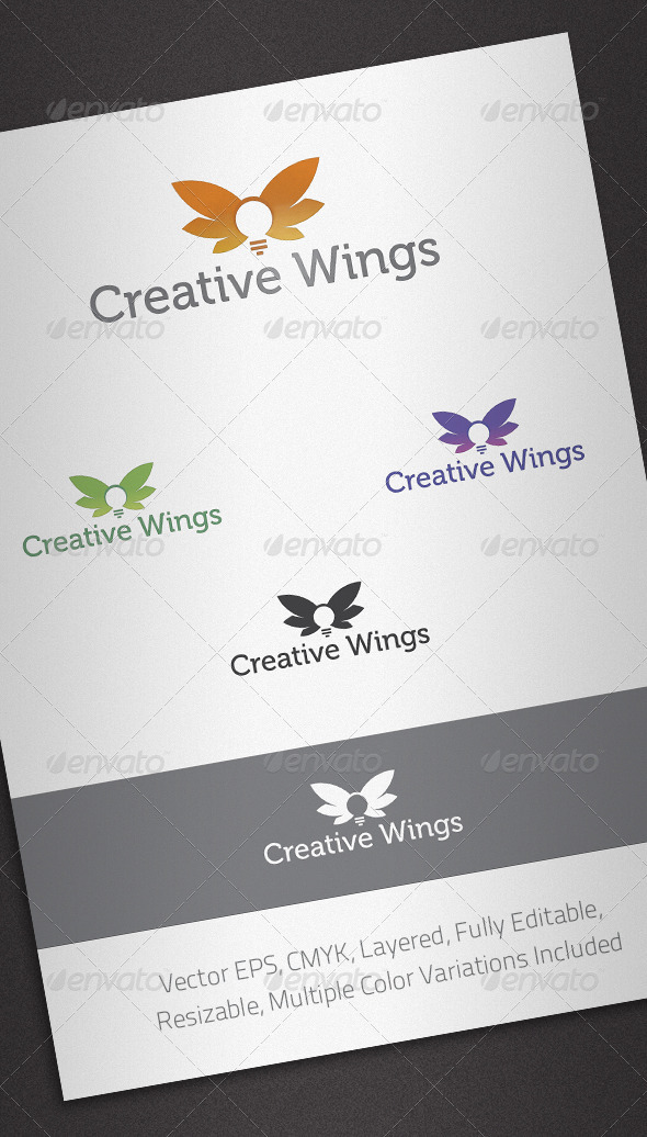 Creative Wings Logo Template - Abstract Logo Templates