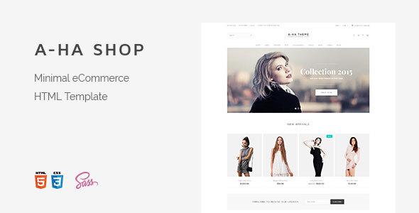 A-ha Shop | Minimal Elegant eCommerce HTML Template