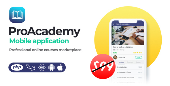 Proacademy mobile app- Education & LMS Marketplace (Android + iOS)