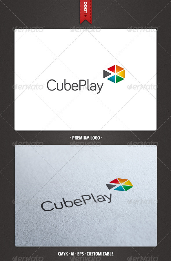 Cube Play Logo Template - Abstract Logo Templates