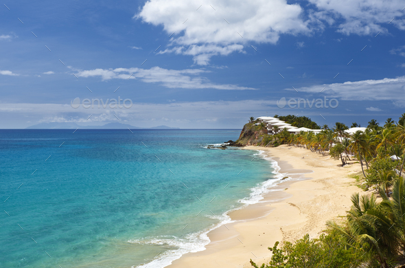 Curtain Bluff Beach, Caribbean - Stock Photo - Images