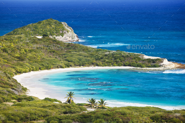 Half Moon Bay, Antigua - Stock Photo - Images