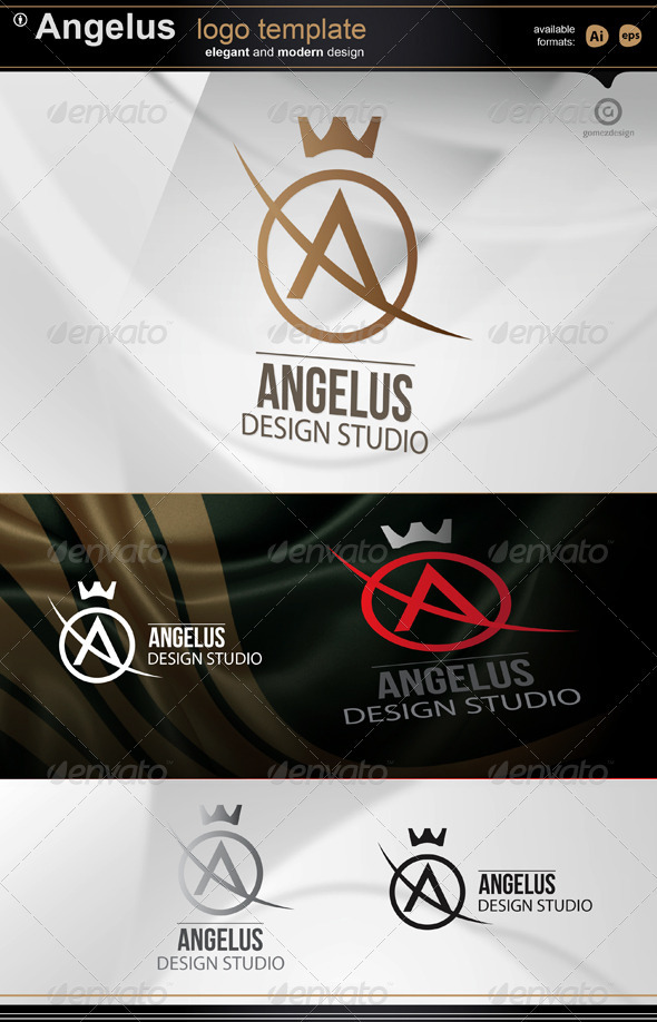 Angelus- Logo Template - Letters Logo Templates