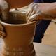 Indian potter hands at work, Shilpagram, Udaipur, Rajasthan, India - PhotoDune Item for Sale